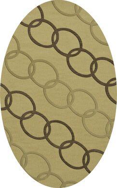 Bella Machine Woven Wool Beige Area Rug Rug Size: Oval 9' x 12'