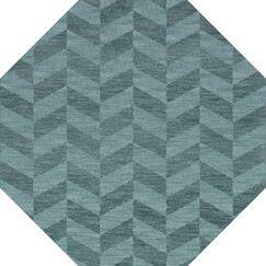 Bella Machine Woven Wool Blue Area Rug Rug Size: Octagon 12'
