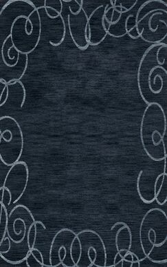 Bella Blue Area Rug Rug Size: Rectangle 4' x 6'