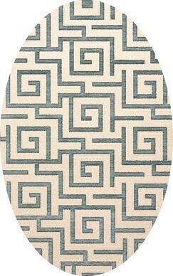 Bella Machine Woven Wool Beige/Gray Area Rug Rug Size: Oval 12' x 15'