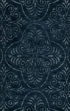 Elkton Blue Area Rug Rug Size: Octagon 12'