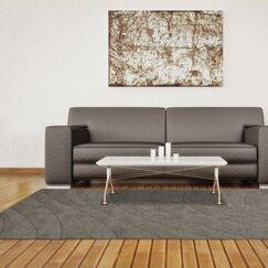 Dover Silver Area Rug Rug Size: Oval 9' x 12'