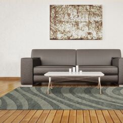 Dover Tufted Wool Spa Area Rug Rug Size: Oval 3' x 5'