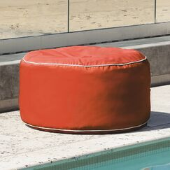 Sunbrella Outdoor Ottoman Color: Melon