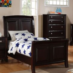 Holzman Sleigh Bed Size: Full, Color: Cappuccino