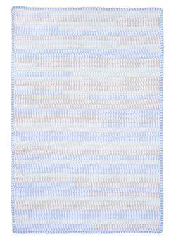 Ticking Stripe Rect Starlight Area Rug Rug Size: Square 6'