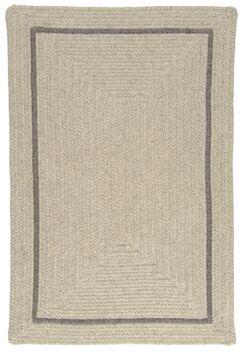 Shear Natural Cobblestone Area Rug Rug Size: Square 12'