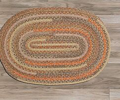 Print Party Ovals Brown Area Rug Rug Size: Oval Runner 2' x 12'