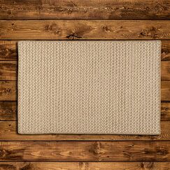 Natural Wool Houndstooth Braided Tea Area Rug Rug Size: Rectangle 12' x 15'