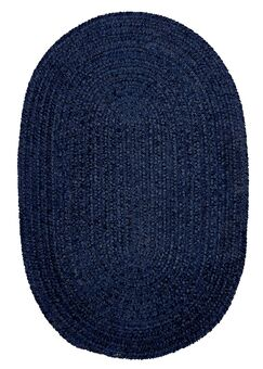 Spring Meadow Navy Area Rug Rug Size: Oval 4' x 6'