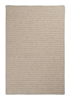 Natural Wool Houndstooth Braided Cream Area Rug Rug Size: Rectangle 10' x 13'