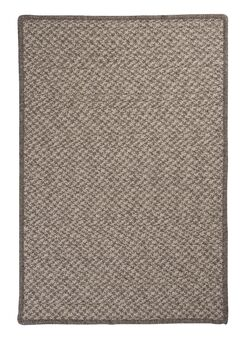 Natural Wool Houndstooth Braided Latte Area Rug Rug Size: Rectangle 3' x 5'