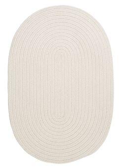 Boca Raton White Indoor/Outdoor Area Rug Rug Size: Oval 5' x 8'