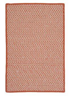 Outdoor Houndstooth Tweed Orange Rug Rug Size: Rectangle 2' x 4'