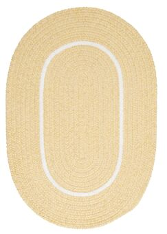 Silhouette Yellow Indoor/Outdoor Area Rug Rug Size: Oval 7' x 9'