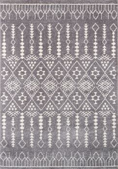 Rundell Gray Area Rug Rug Size: Rectangle 9'3