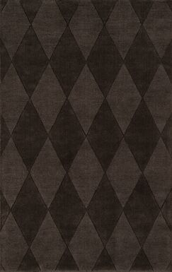 Eli Hand-Tufted Brown Area Rug Rug Size: 8' x 11'
