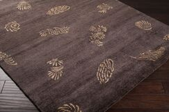 Howland Charcoal/Gold Area Rug Rug Size: Rectangle 8' x 11'
