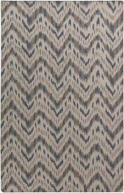 Crisler Gray Chevron Area Rug Rug Size: Rectangle 3'6