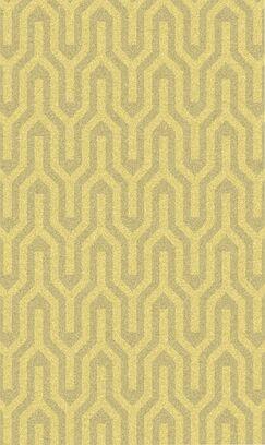 Burchfield Gold Geometric Rug Rug Size: Rectangle 3'6