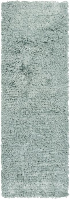 Wendi Handmade Light Teal Solid Area Rug Rug Size: Rectangle 2' x 3'