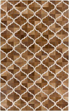 Georgianne Mocha/Tan Area Rug Rug Size: Rectangle 5' x 8'