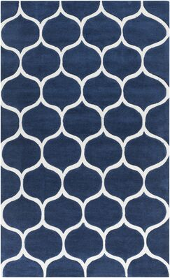 Cortez Navy/Light Gray Geometric Area Rug Rug Size: Rectangle 2' x 3'