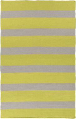 Peugeot Lime/Light Gray Indoor/Outdoor Area Rug Rug Size: Rectangle 3'6