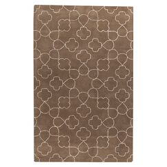 Jensen Hand Tufted Wool White/Brown Area Rug Rug Size: Rectangle 2' x 3'