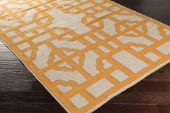 Elsmere Beige/Orange Geometric Area Rug Rug Size: Rectangle 2' x 3'