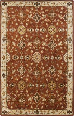 Ponce Burgundy Rug Rug Size: Rectangle 9' x 13'
