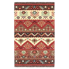 Double Mountain Hand Woven Wool Multi-Colored Area Rug Rug Size: Rectangle 5' x 8'