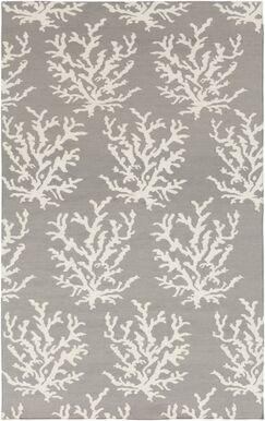 Byard Light Gray& White Area Rug Rug Size: Rectangle 8' x 11'