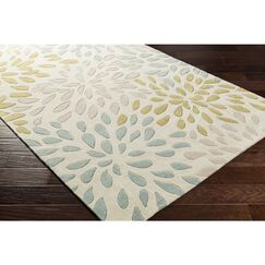Carrie Hand-Tufted Moss/Olive Area Rug Rug Size: Rectangle 9' x 13'