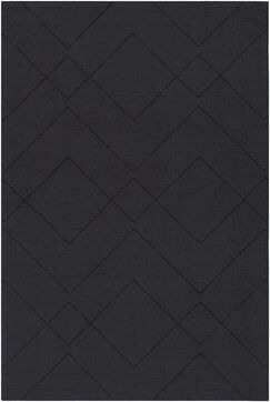 Belle Hand-Loomed Black Area Rug Rug Size: Rectangle 8' x 10'