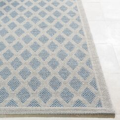 Sarang Light Gray/Blue Indoor/Outdoor Area Rug Rug Size: Rectangle 7'10