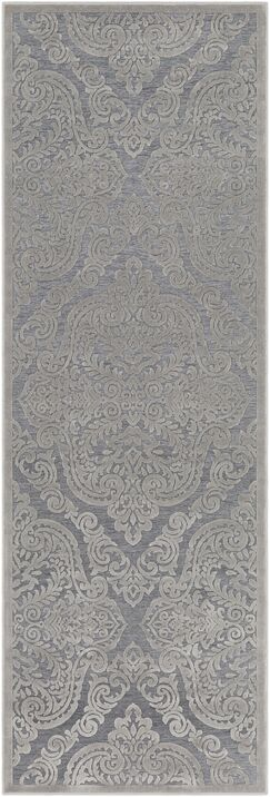 Quimir Transitional Silver/Dark Gray Area Rug Rug Size: Runner 2'7