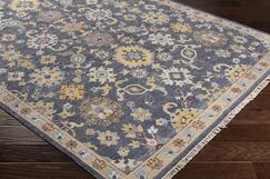 Casco Floral Hand Knotted Charcoal/Brown Area Rug Rug Size: Rectangle 2' x 3'