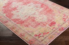 Ryhill Floral Bright Pink/Pale Pink Area Rug Rug Size: Rectangle 7'10