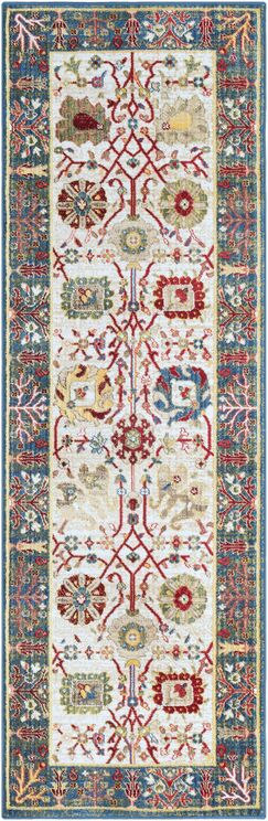 Napa Navy/White Floral Area Rug Rug Size: 2'6