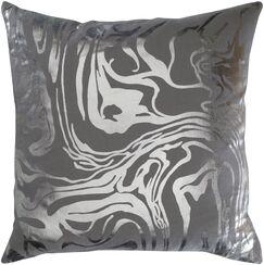 Crescent Modern Cotton Throw Pillow Size: 20