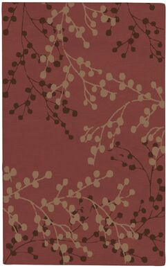 Dedrick Hand-Tufted Wool Plum/Merlot Area Rug Rug Size: Rectangle 8' x 10'