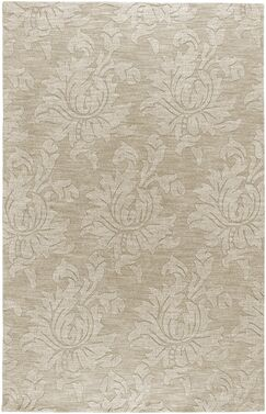 Ardal Hand-Woven Wool Beige Area Rug Rug Size: Rectangle 3'6