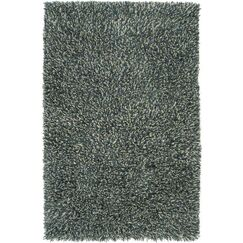 Chambers Hand-Woven Teal Blue Area Rug Rug Size: Rectangle 2' x 3'