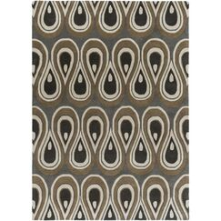 Goa Hand-Tufted Pewter Area Rug Rug Size: 8' x 11'