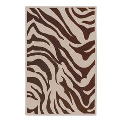 Akiva Zebra Print Area Rug Rug Size: Rectangle 5' x 8'