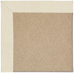 Lisle Machine Tufted Sandy and Brown Indoor/Outdoor Area Rug Rug Size: Round 12' x 12'