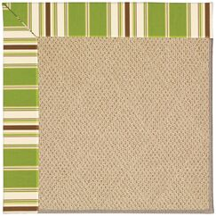 Lisle Machine Tufted Green/Brown Indoor/Outdoor Area Rug Rug Size: Rectangle 2' x 3'