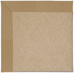 Lisle Machine Tufted Light Gold Indoor/Outdoor Area Rug Rug Size: Square 6'