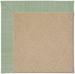 Lisle Cane Wicker Machine Tufted Green Spa/Brown Indoor/Outdoor Area Rug Rug Size: Rectangle 2' x 3'